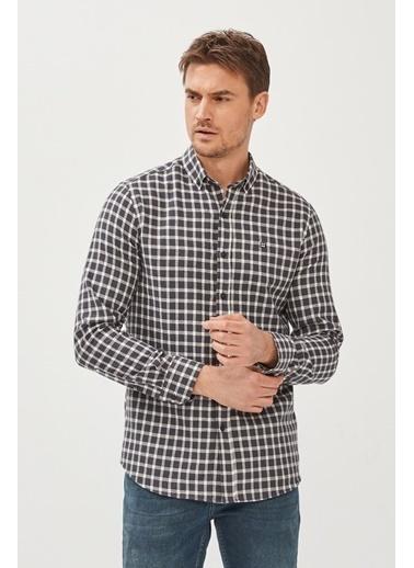 Avva Erkek  Haki Ekoseli Gömlek A02Y2320 Siyah